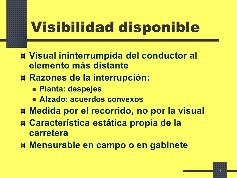 Visibilidad disponible