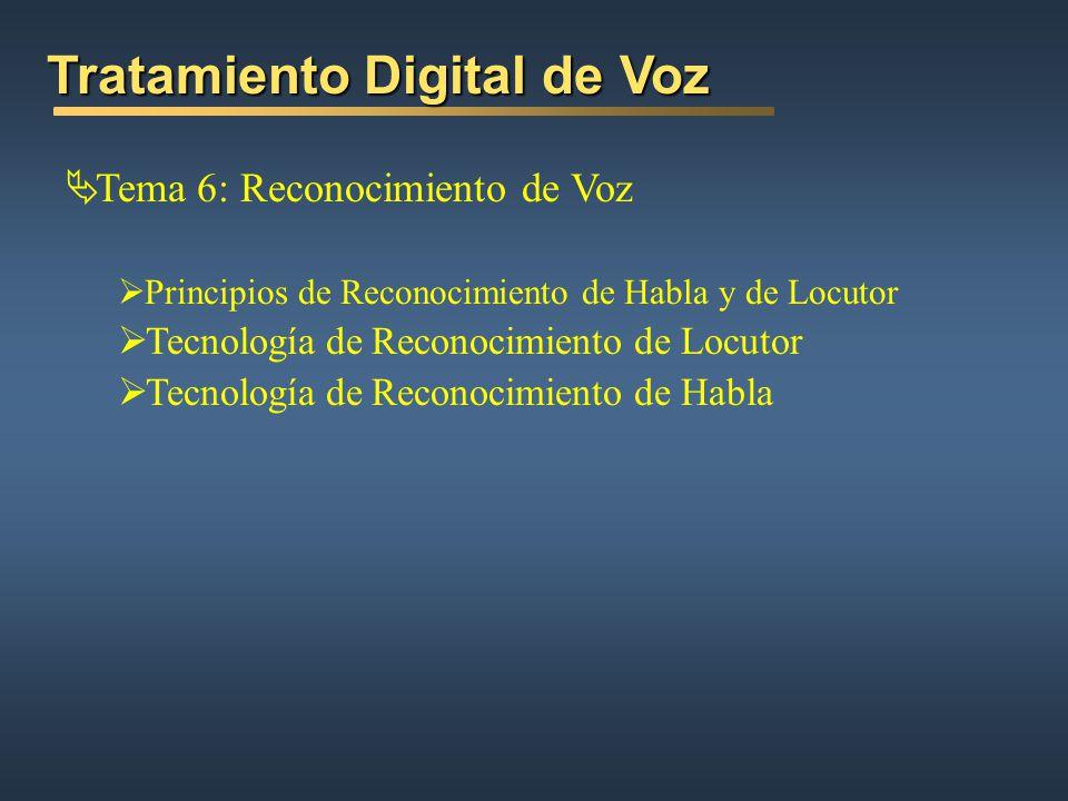 Tratamiento Digital de Voz