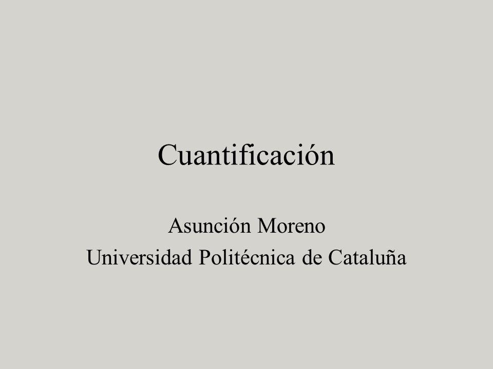 Asunción Moreno Universidad Politécnica de Cataluña