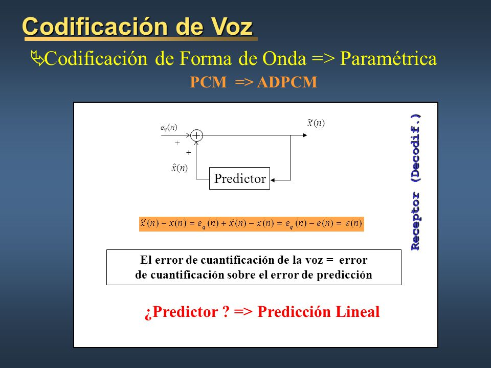 ¿Predictor => Predicción Lineal