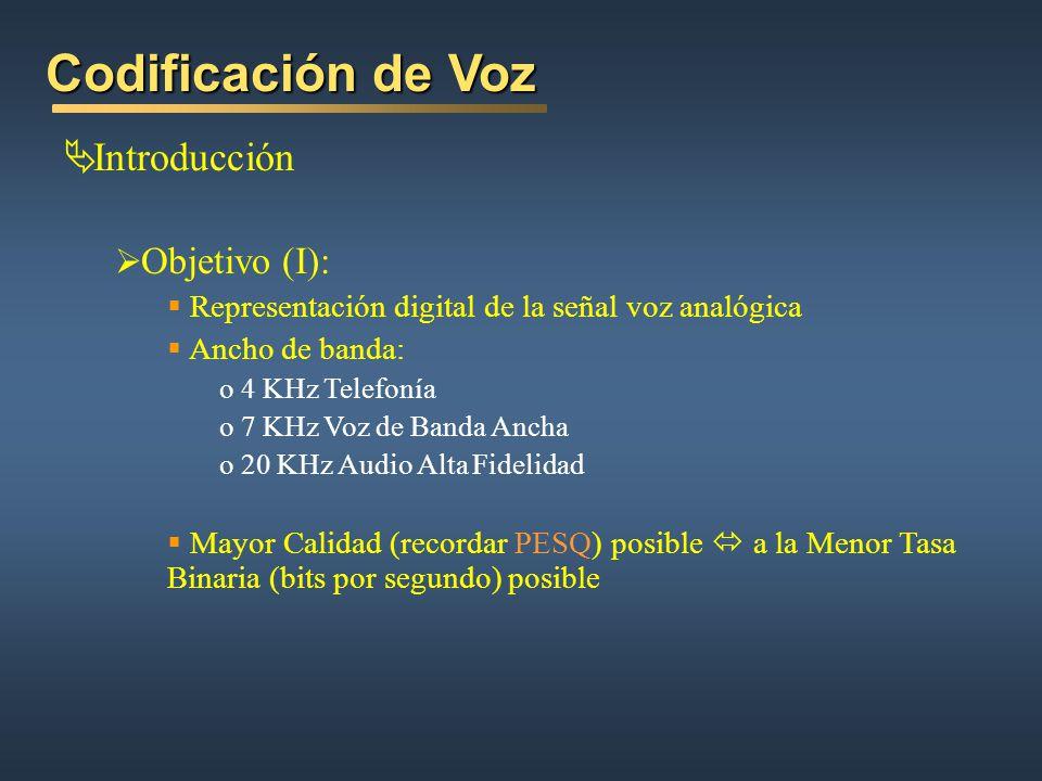 Codificación de Voz Introducción Objetivo (I):