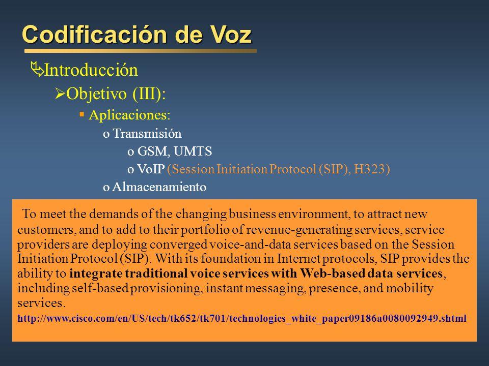 Codificación de Voz Introducción