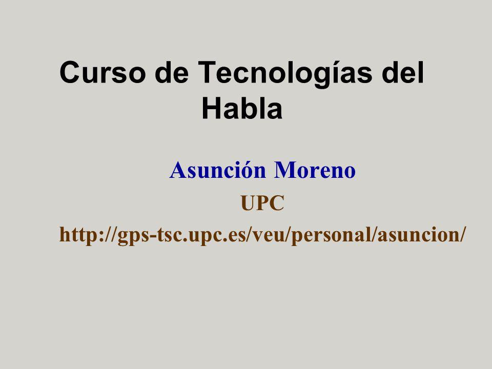 Curso de Tecnologías del Habla