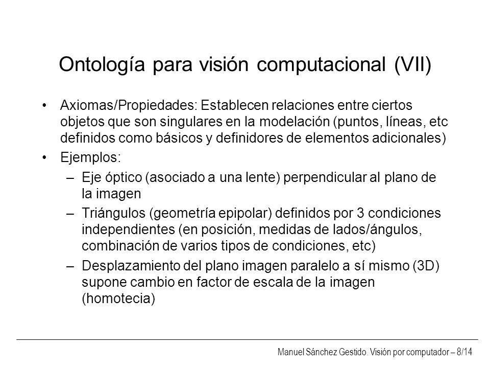 Ontología para visión computacional (VII)