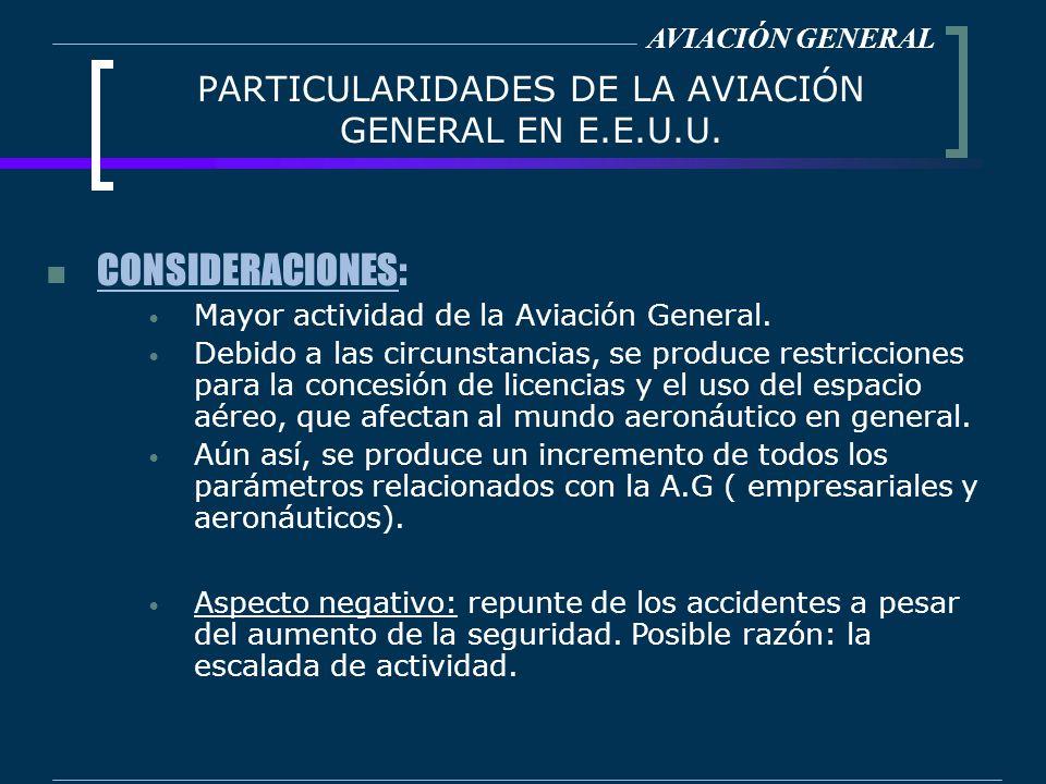 PARTICULARIDADES DE LA AVIACIÓN GENERAL EN E.E.U.U.