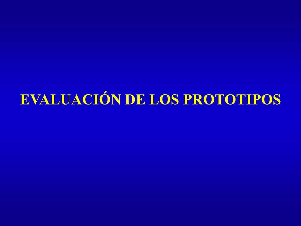 EVALUACIÓN DE LOS PROTOTIPOS
