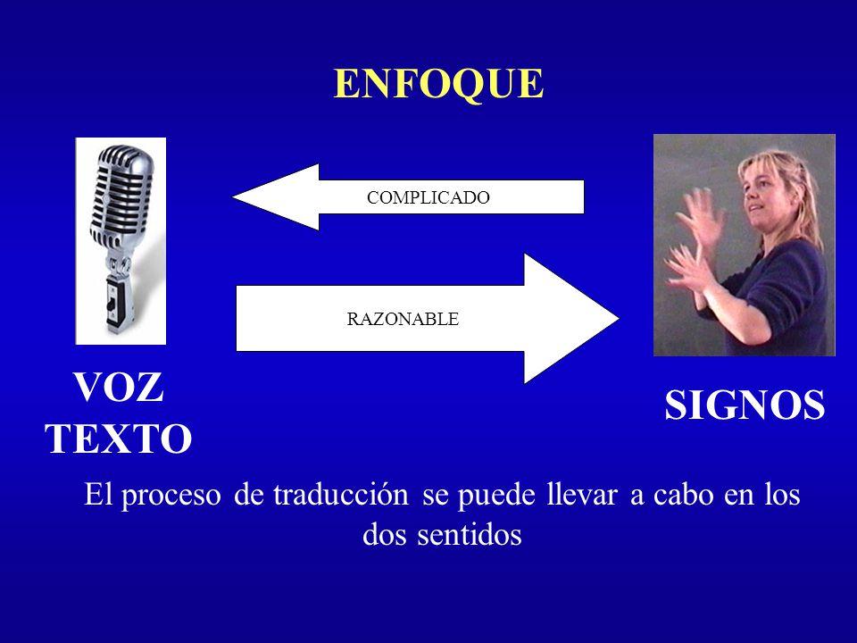 El proceso de traducción se puede llevar a cabo en los dos sentidos