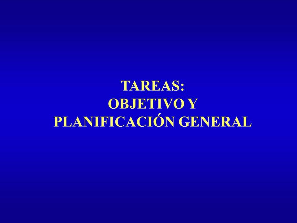 OBJETIVO Y PLANIFICACIÓN GENERAL
