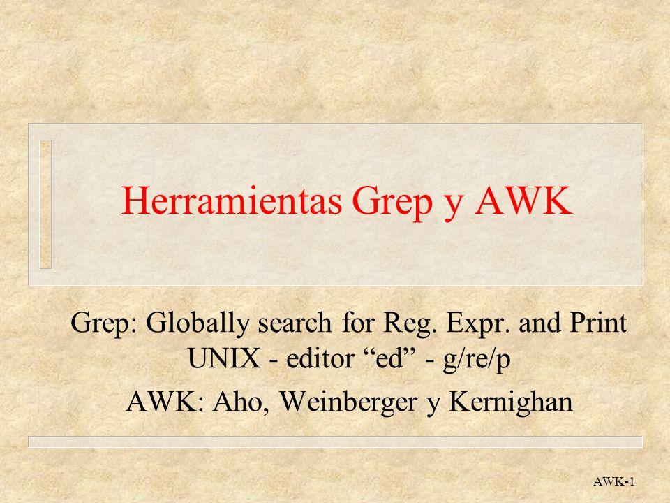 Herramientas Grep y AWK