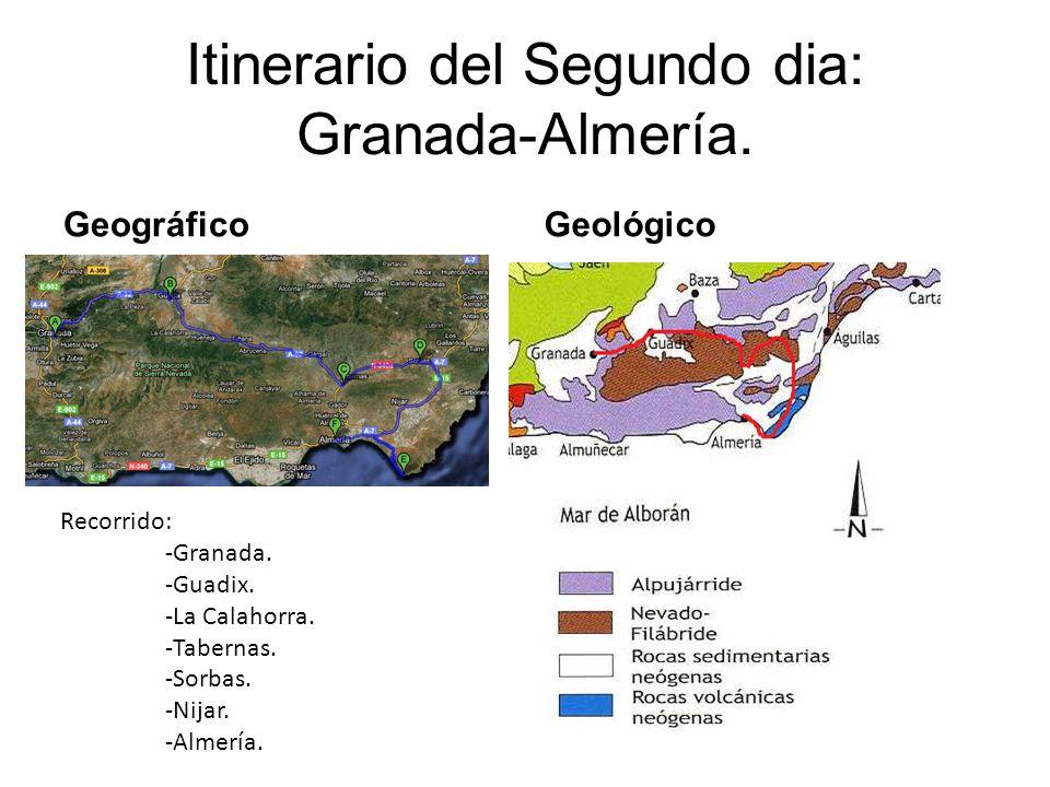 Itinerario del Segundo dia: Granada-Almería.