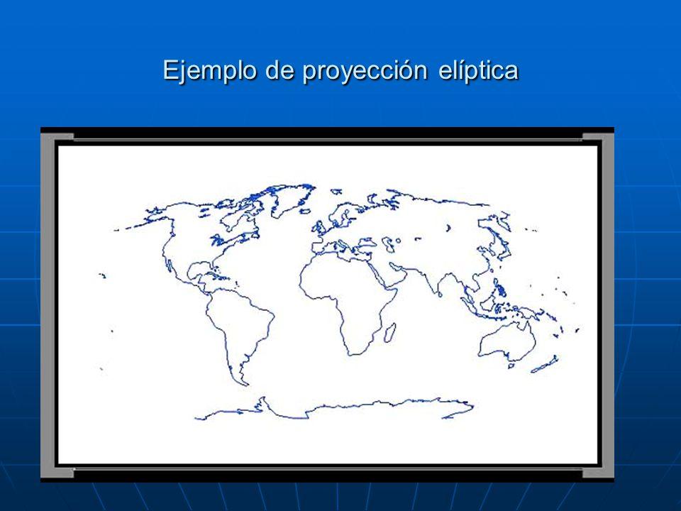 Ejemplo de proyección elíptica