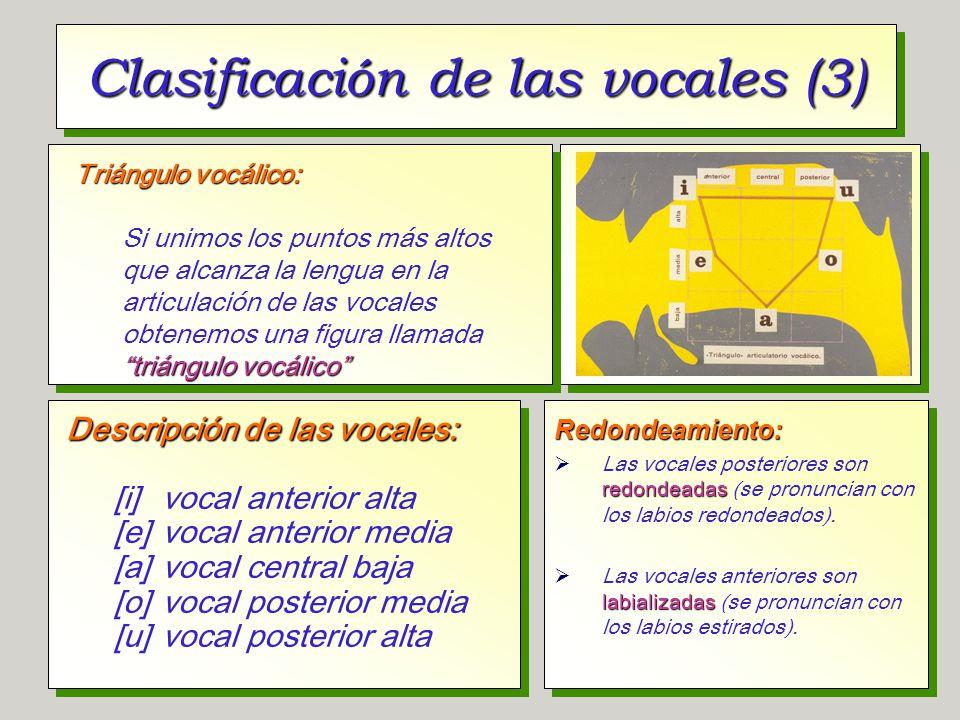 Clasificación de las vocales (3)