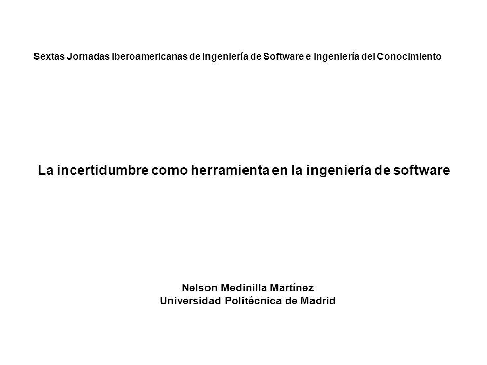 Nelson Medinilla Martínez Universidad Politécnica de Madrid