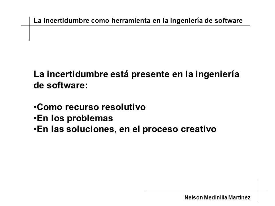 La incertidumbre está presente en la ingeniería de software: