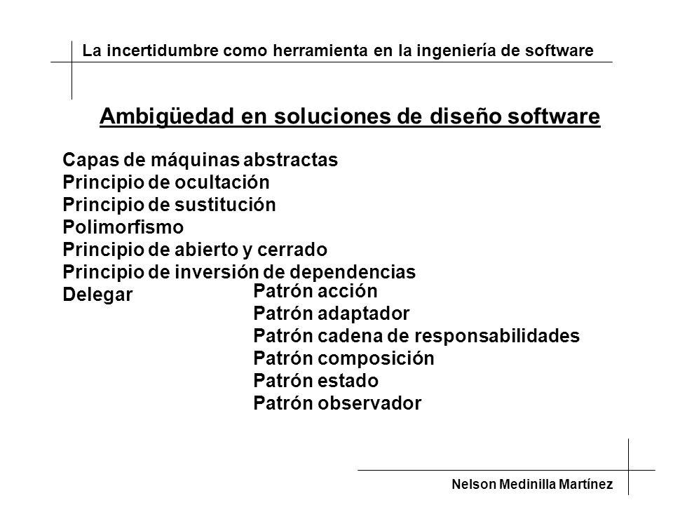 Ambigüedad en soluciones de diseño software