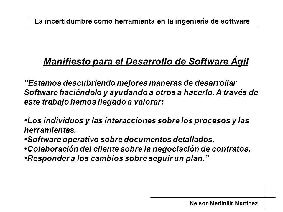 Manifiesto para el Desarrollo de Software Ágil