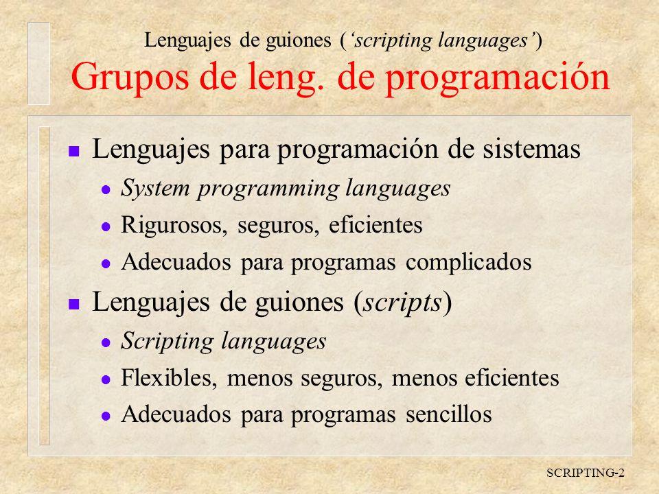 Grupos de leng. de programación