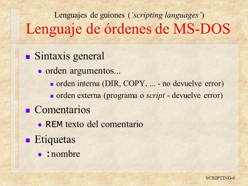 Lenguaje de órdenes de MS-DOS
