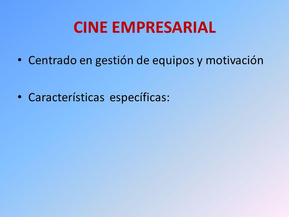 CINE EMPRESARIAL Centrado en gestión de equipos y motivación