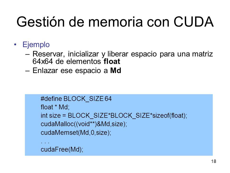 Gestión de memoria con CUDA