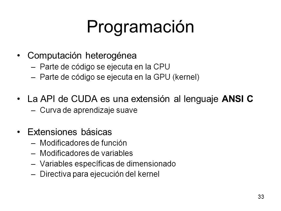 Programación Computación heterogénea