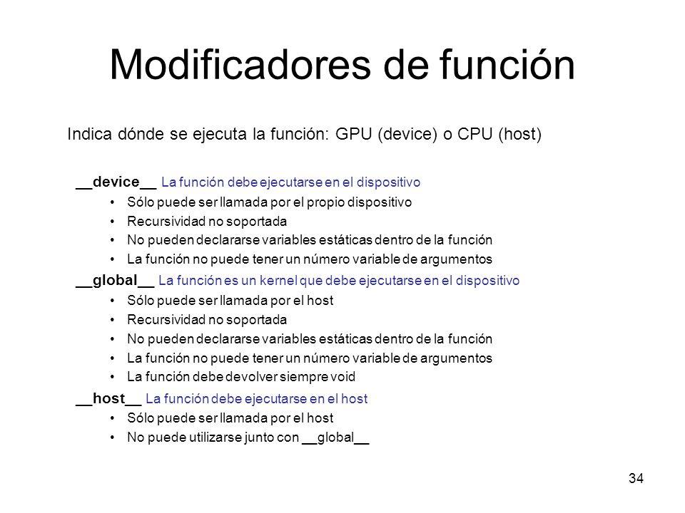 Modificadores de función