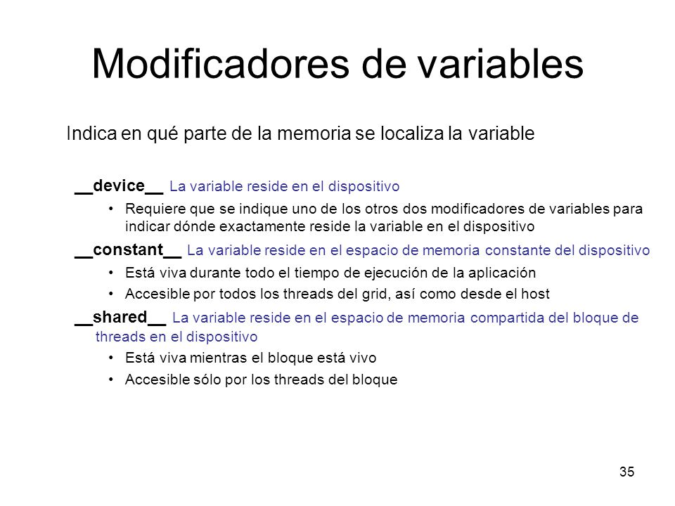 Modificadores de variables