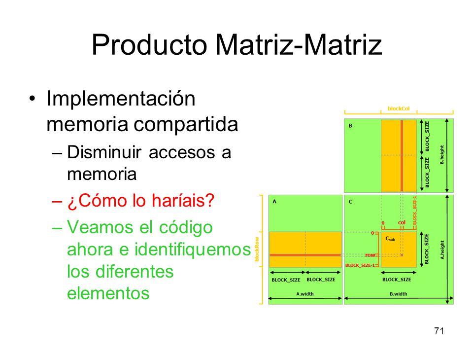 Producto Matriz-Matriz