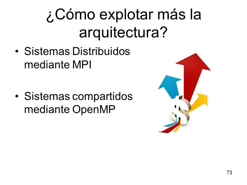 ¿Cómo explotar más la arquitectura