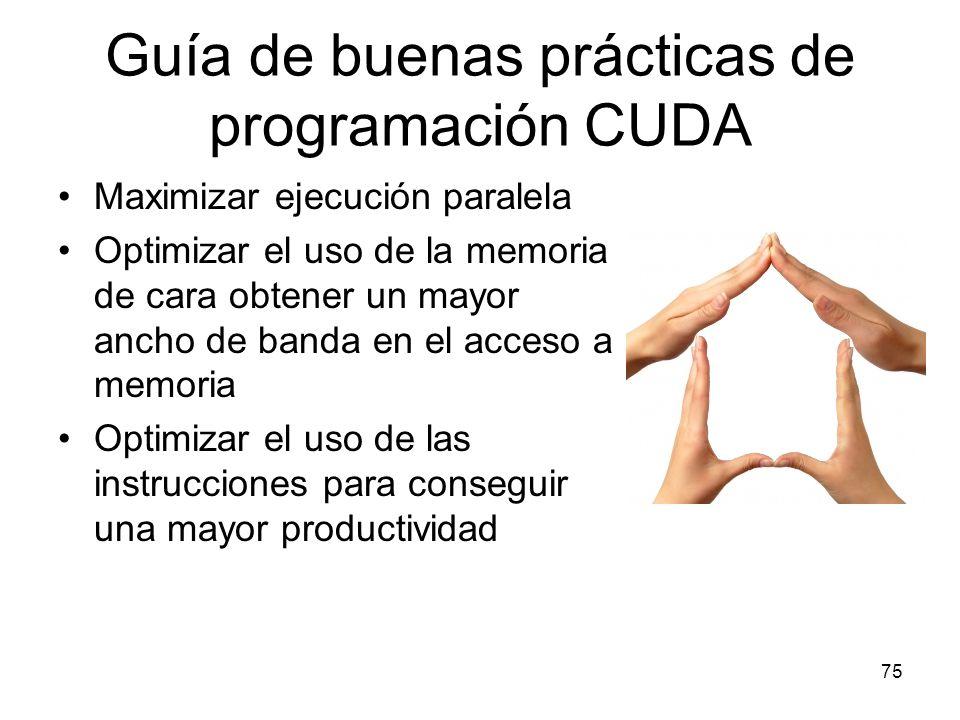 Guía de buenas prácticas de programación CUDA