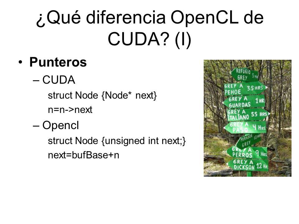 ¿Qué diferencia OpenCL de CUDA (I)
