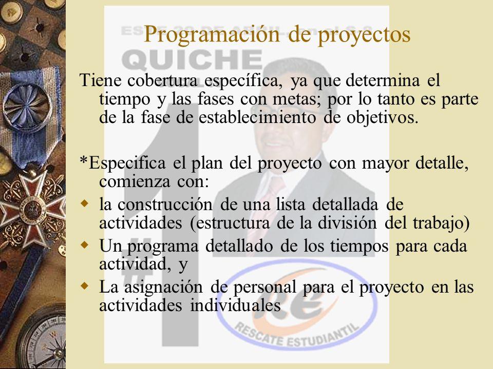 Programación de proyectos