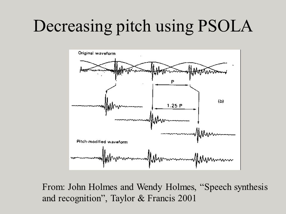 Decreasing pitch using PSOLA