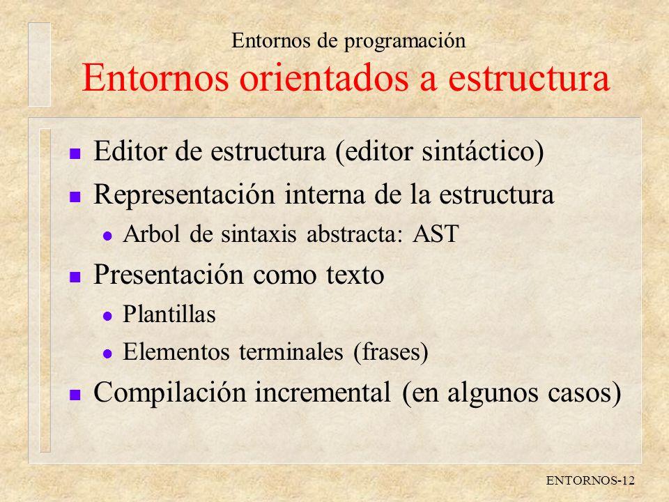 Entornos orientados a estructura