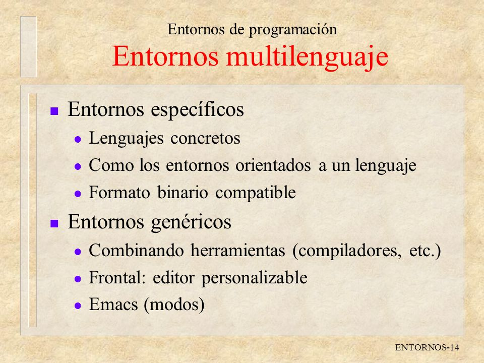Entornos multilenguaje