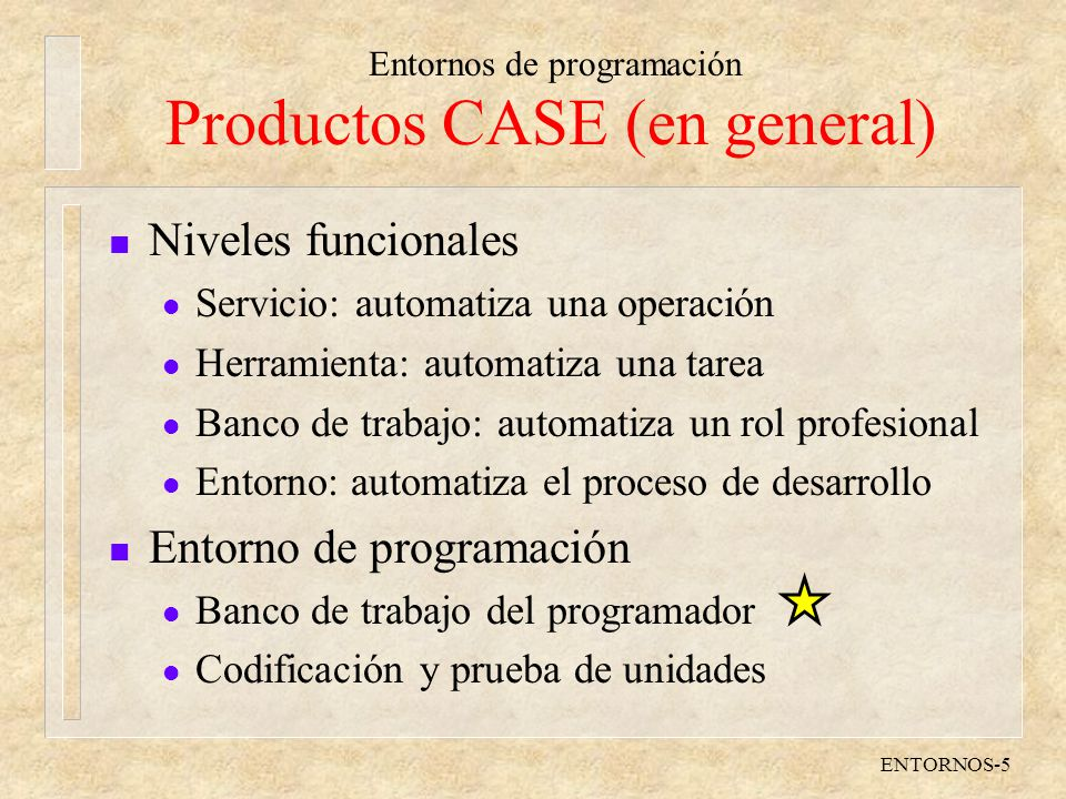 Productos CASE (en general)