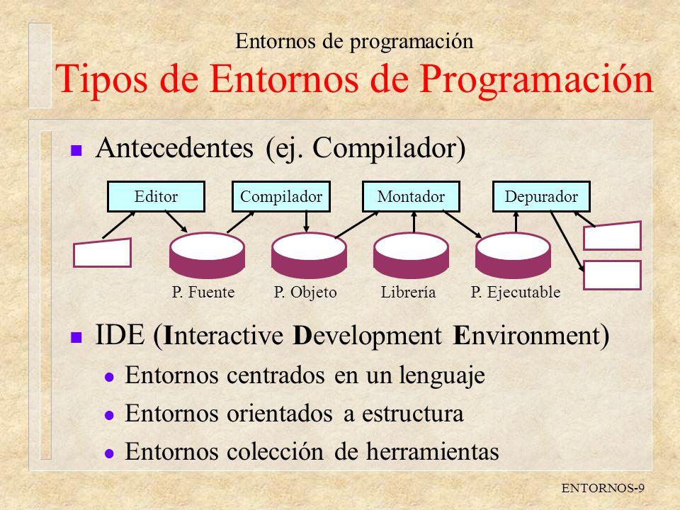 Tipos de Entornos de Programación