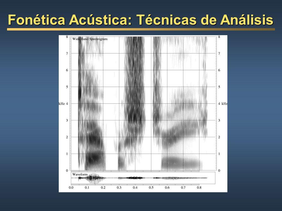 Fonética Acústica: Técnicas de Análisis