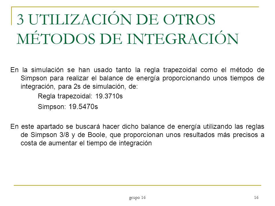 3 UTILIZACIÓN DE OTROS MÉTODOS DE INTEGRACIÓN