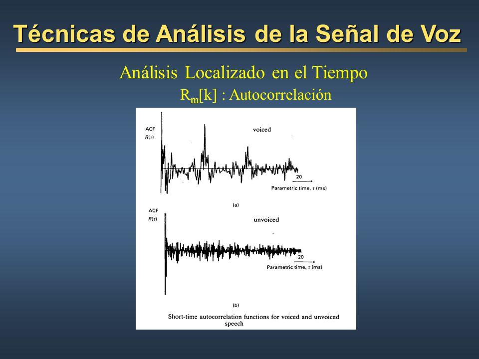 Técnicas de Análisis de la Señal de Voz
