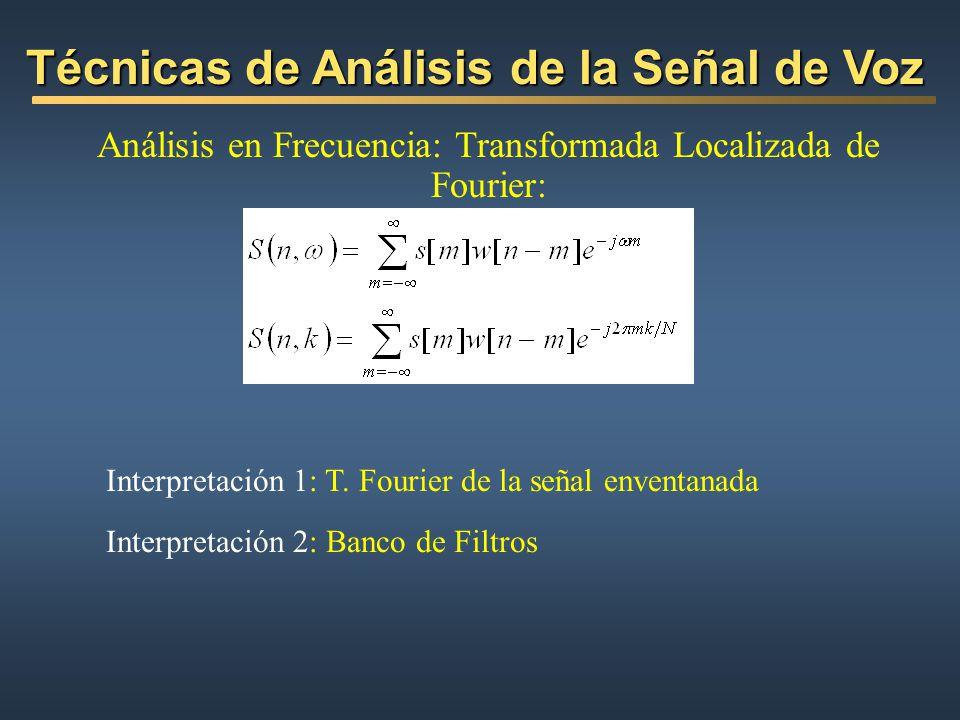 Análisis en Frecuencia: Transformada Localizada de Fourier: