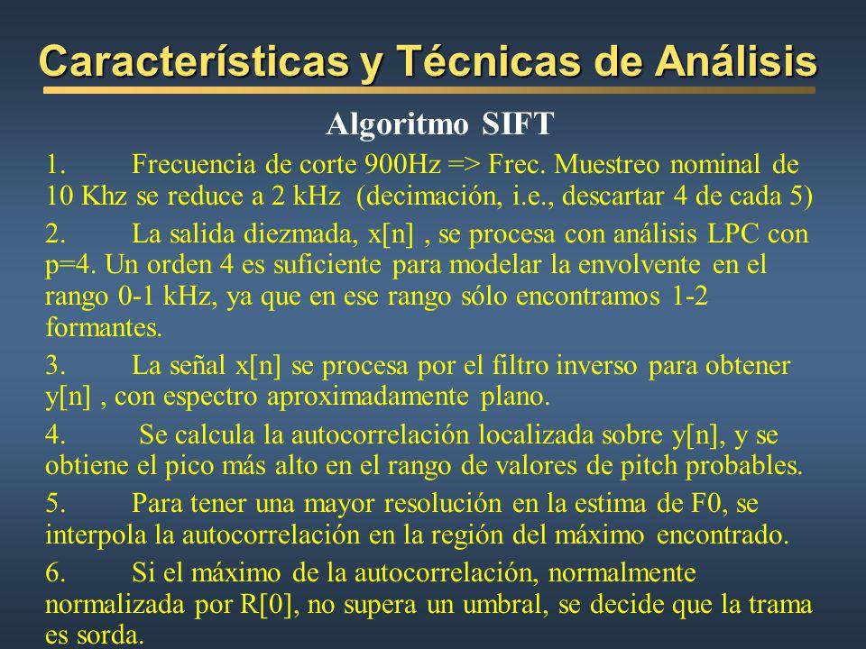 Características y Técnicas de Análisis