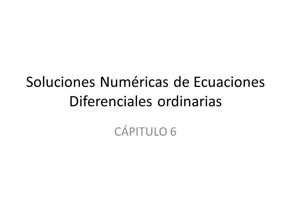Soluciones Numéricas de Ecuaciones Diferenciales ordinarias