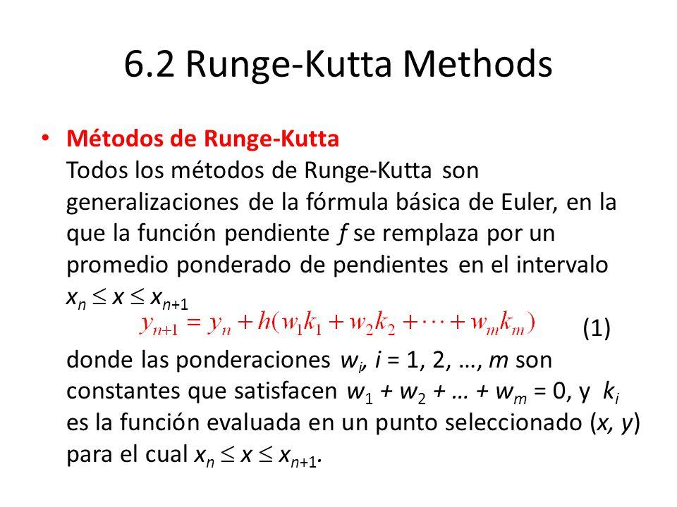 6.2 Runge-Kutta Methods
