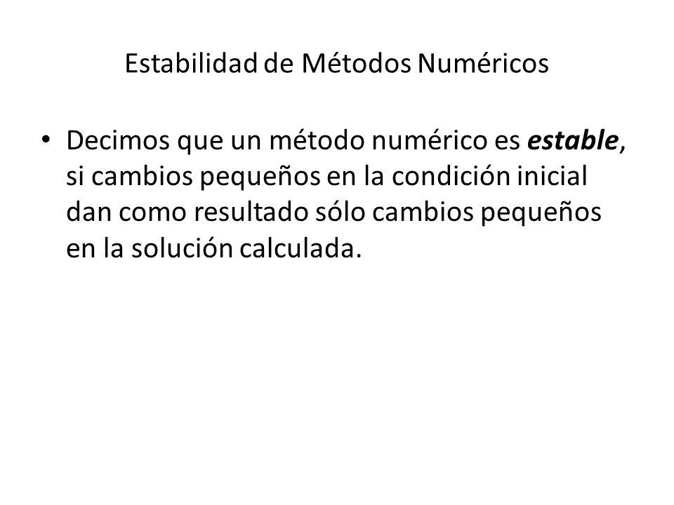 Estabilidad de Métodos Numéricos