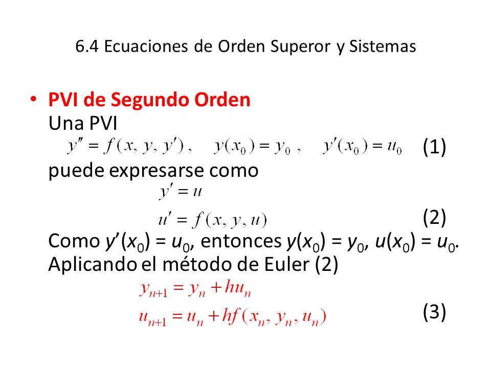 6.4 Ecuaciones de Orden Superor y Sistemas