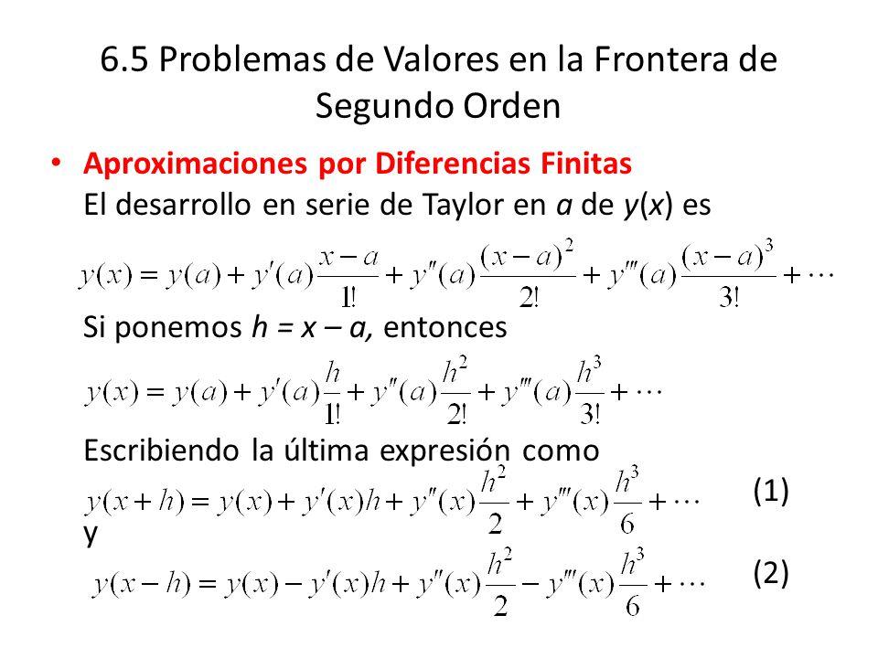 6.5 Problemas de Valores en la Frontera de Segundo Orden