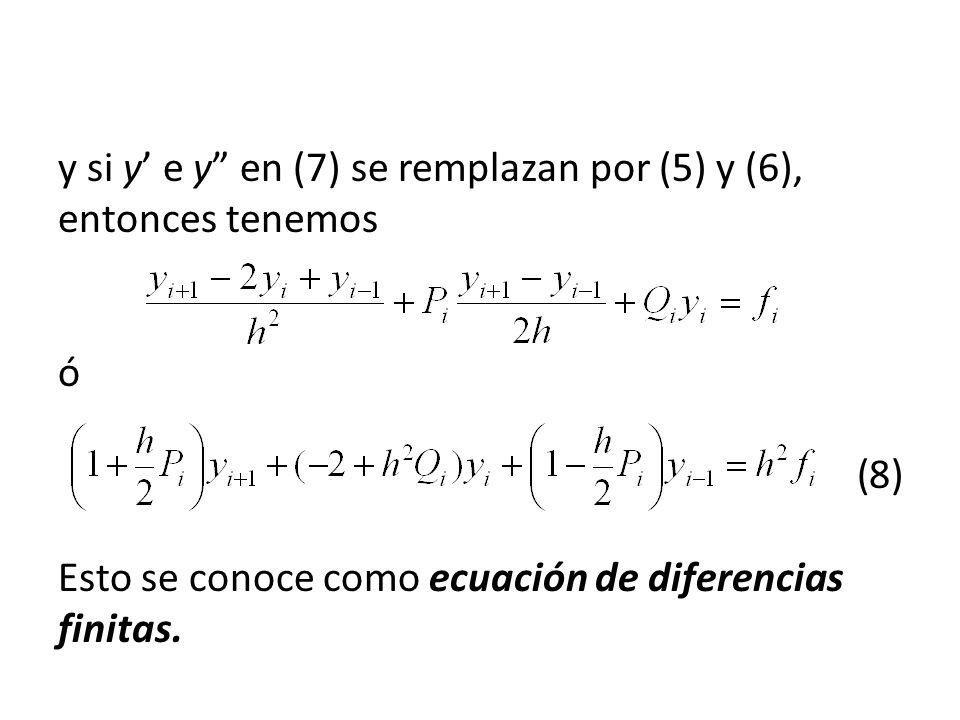 y si y' e y en (7) se remplazan por (5) y (6), entonces tenemos. ó