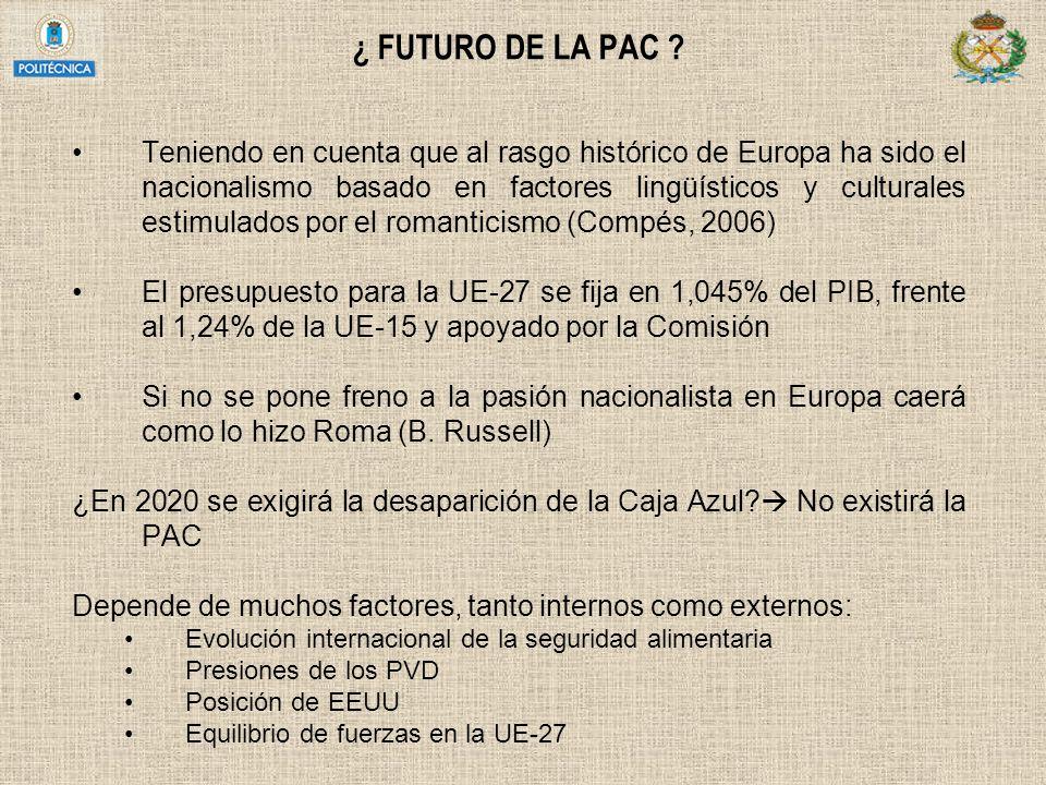 ¿ FUTURO DE LA PAC