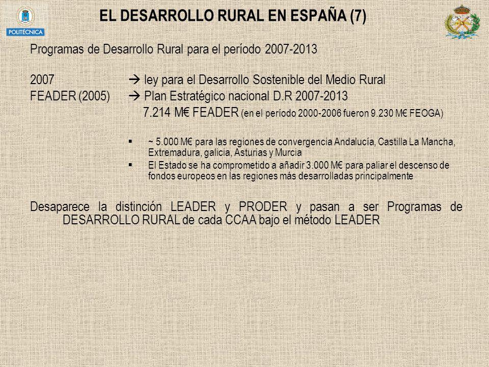 EL DESARROLLO RURAL EN ESPAÑA (7)